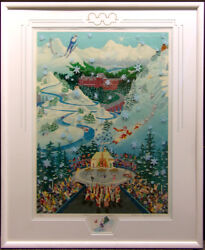 Melanie Taylor Kent Let The Winter Games Beginwith Remarque Hand Signed Framed