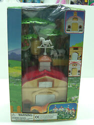 80's Vintage My Country Land Stable Barn + Accs Farm Animals Plastic Toy Mib