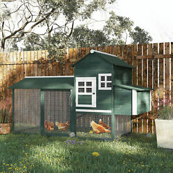 84quot; Wooden Chicken Coop Backyard Nest Box Hen House Wood Poultry Hutch Nesting
