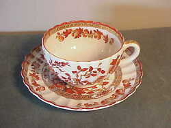 Vintage Fancy Gold English Copeland Spode Teacup And Saucer Set - India Tree