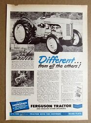 1952 Ferguson Tractor Ad Different From All The Others The Ferguson Tractor