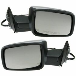 Power Heated Memory Turn Signal Side View Mirrors Pair Set For Ram Pickup Truck