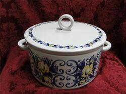 Villeroy And Boch Cadiz Yellow Blue Soup Tureen And Lid / Covered Casserole 8