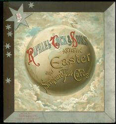 8 1/2 Chromolithograph Advertising Card For Raphael Tuck Easter Etc. Cards