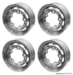 Steel Drum Brake Wheel Set 4 Chrome 15and039and039x4 1/2and039and039 Porsche 356a/356b 55-63