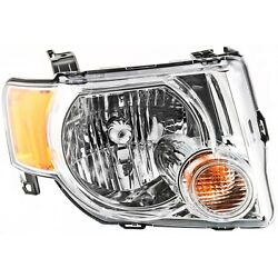 Headlight For 2008-2012 Ford Escape Right Chrome Housing With Bulb