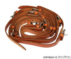 Luggage Rack Leather Strap Set Tan All Porsche 356and039s 50-65