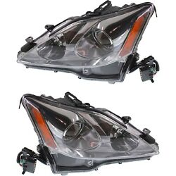 Headlight Set For 2006-2008 Lexus Is250 Is350 Left And Right With Wiring Harness
