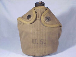 U.s. Army Canteen With Plastic Bottle - Marked 1942