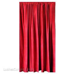 Red Velvet Curtain 18 Ft H Drop Extra Long Panel Soundproofing Acoustical Drapes