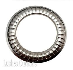 Large Curtain Drapery Nickel 12 Metal Grommets 1-9/16 Pack W/washer Eyelets