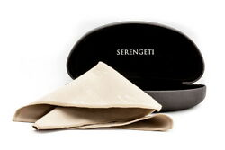 Serengeti Sunglasses Carrying Case & Microsuede Cleaning Cloth Authorized Dealer $16.97