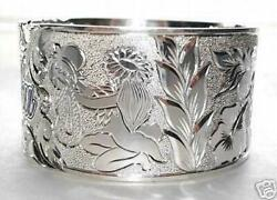 50mm Solid 925 Ster Silver Hawaiian Custom Engraved Personalized Heirloom Bangle