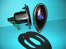 1938 1939 Ford Passenger Car Tail Lights With Blue Dotsand Mounting Pads