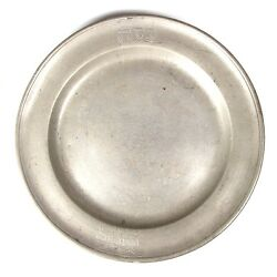 Rare Antique Passover Traveling Pewter Plate Germany 18th Century Judaica