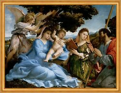 Madonna And Child With Saints Catherine And Thomas Lotto Sankt Engel B A1 02798