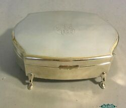 Chinese Export Silver Jewelry Box By Zeesung Shanghai China Circa 1920