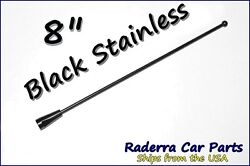 8 Black Stainless Am Fm Antenna Mast Fits 1985-1989 Plymouth Reliant
