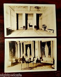 Elks Temple Portland Oregon Ladies Parlor Main Lobby Or 2 Photo Postcards 1920and039s