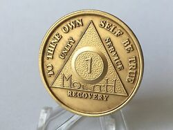 Lot Of 15 Aa Alcoholics Anonymous Bronze Medallions Year 1 - 65 Months 1 - 11