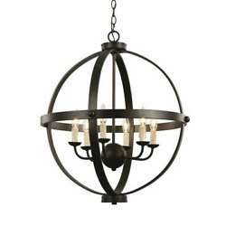 Trans Globe Old World Sphere 24and039 Pendant Rubbed Oil Bronze - 70596rob