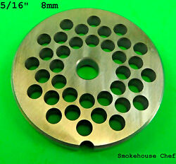 22 X 5/16 Meat Grinder Plate Stainless Steel Fits Hobart Tor-rey Lem And More