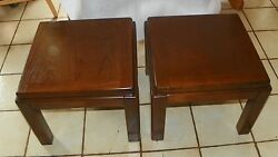 Mid Century Pair Of Walnut Lane End Tables / Side Tables  T452