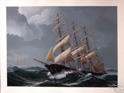 Pete Peterson Against An Angry Sea Hand Signed Original Serigraph Art Artwork