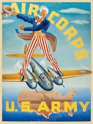 1944 Us Army Air Corps Vintage Style Ww2 Morale Poster - 24x32