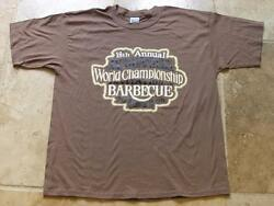 Jack Daniels 18th Annual 2006 World Championship Barbecue Brown Xlarge T- Shirt