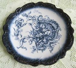 1896-1912 Empire Porcelain Works Blue Iris Transfer Ware 12.5 Round Charger