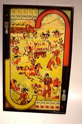 pinball game wild west circa 1930s