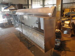 4 ' Type 1 Commercial Kitchen Restaurant Exhaust Hood System With Blowers/curbs