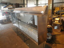 4 And039 Type 1 Commercial Kitchen Restaurant Exhaust Hood System With Blowers/curbs