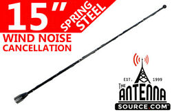 15 Black Spring Stainless Am/fm Antenna Mast Fits 1985-1989 Plymouth Reliant