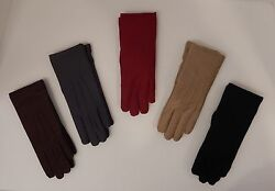 ISOTONER BLACK BROWN GRAY OR RED WOMEN#x27;S CLASSIC GLOVES WARM LINED GREAT GIFT