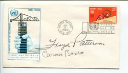 Carmen Basilio Floyd Patterson Us Olympic Gold Boxing Hof Signed Autograph Fdc