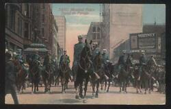 Postcard Chicago Il/illinois Mounted Police With Giant Star Of David Badges 1907