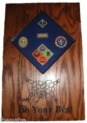 Cub Scout Patches And Badges Display Case Shadow Box
