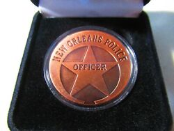 City Of New Orleans Police Dept. Copper Challenge Coin W/ Presentation Box