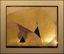Sica Pyramids In Sun And Shade Signed Numbered Collagraph Gold Matted Metallic