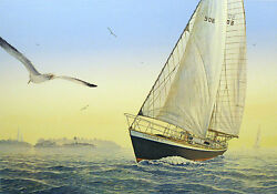 Pete Peterson 6 Points Off The Wind Signed Art Serigraph Ship Artwork Make Offer