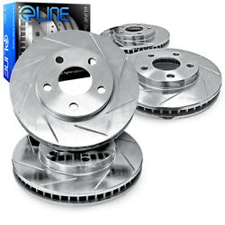 For 2000 Subaru Legacy Front Rear eLine Slotted Brake Rotors