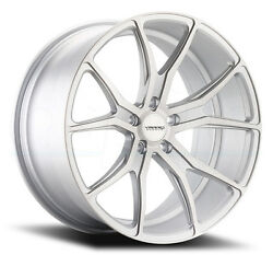 20x11 Varro Vd01 5x130mm +55 Matte Silver Brushed Face Wheels Set Of 4