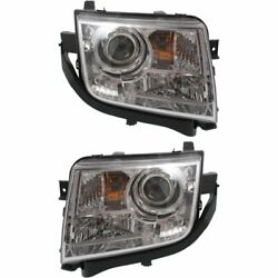 Headlight Set For 2008 2009 2010 Lincoln MKX Left and Right With Bulb 2Pc