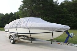 New Vortex Combo Pack Heavy Duty Grey 11 12 13and039 Boat Cover + Support System