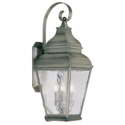 Livex Lighting Exeter Outdoor Wall Lantern In Vintage Pewter - 2605-29