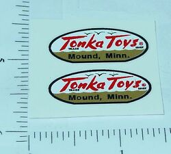 pair 1958 to 1961 tonka oval logo stickers