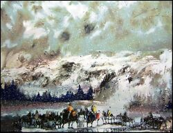 Earl Biss Another Storm Along The Rockies Serigraph On Paper Hand Signed