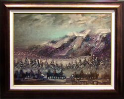Earl Biss Riders At The Headwaters Of Yellowstone9 With Custom Framed30x40